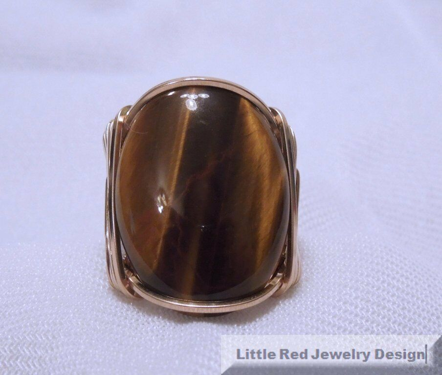 K Gold Tiger Eye Ring