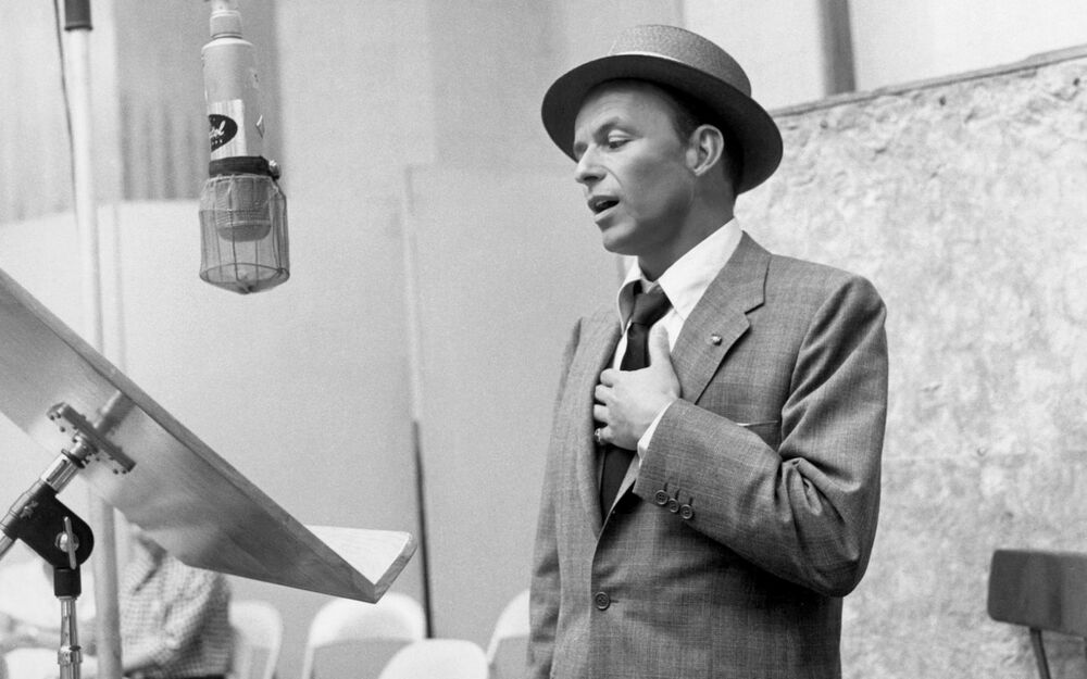 Frank Sinatra Singing Canvas Wall Art Poster Print Album