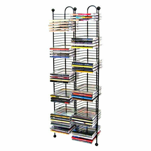100 Cd Tower Storage Rack Organizer Tall Metal Wire Stand
