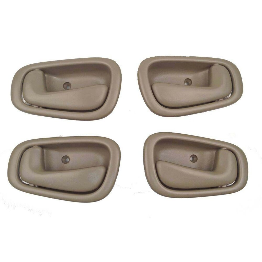 Inside door handle tan 4pc for toyota corolla 1998 2002 - 1998 toyota camry interior parts ...