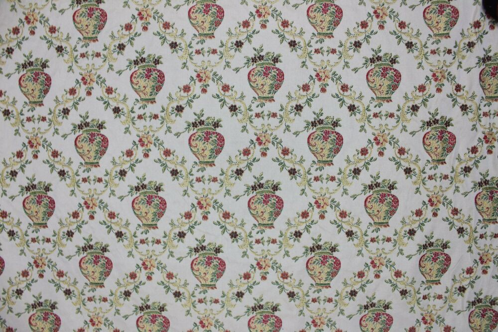 6 1 3 yards floral damask flowers in vase upholstery for Victorian floral fabric