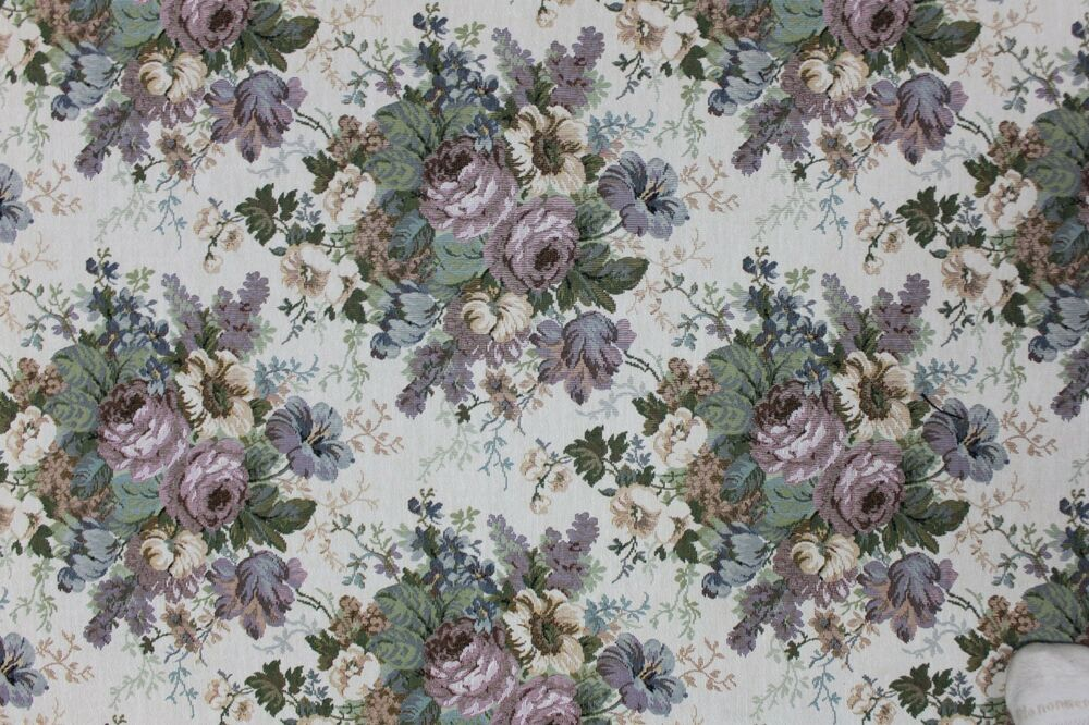 6 1 2 yards floral tapestry upholstery fabric kimball 712 for Victorian floral fabric