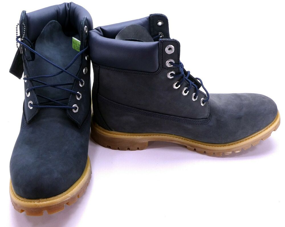 timberland shoes 6 inch premium bt blue gray boots size 11. Black Bedroom Furniture Sets. Home Design Ideas