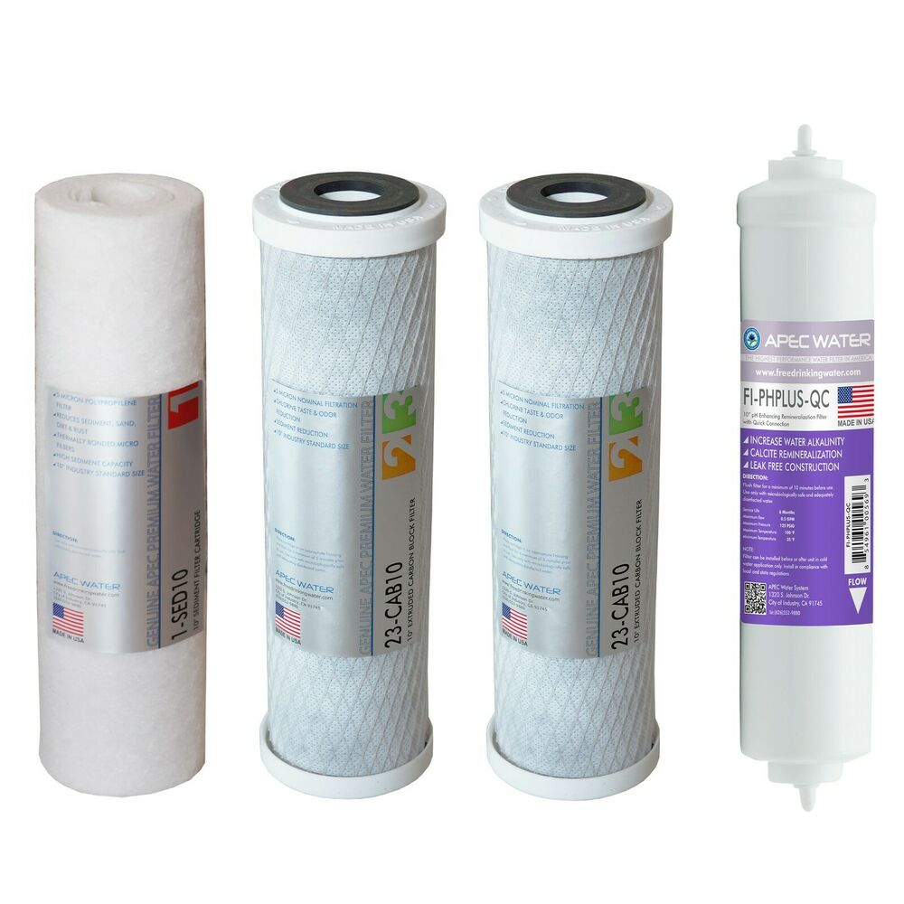 Apec Us Made Stage1 2 3 Amp 6 Replacement Water Filters For Ro