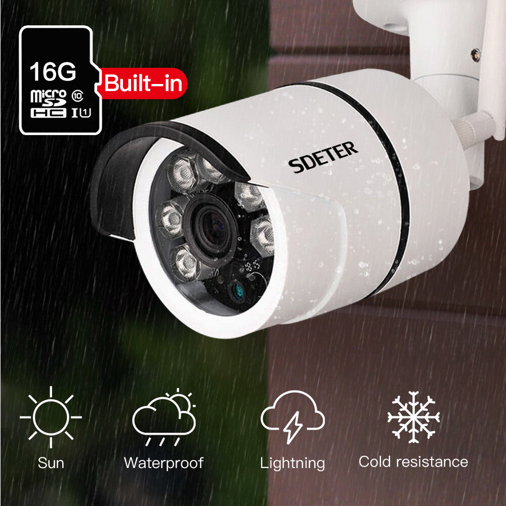 720p outdoor wireless wifi ip camera sd slot network night. Black Bedroom Furniture Sets. Home Design Ideas
