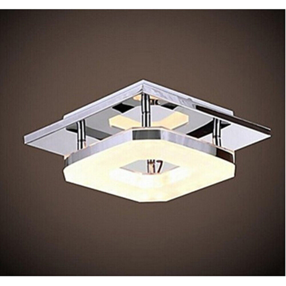 Modern Acrylic LED Ceiling Light Pendant Lamp Stainless