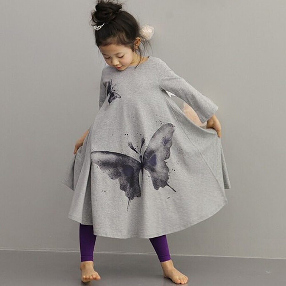 Kids Butterfly Dancewear Children Baby Girl Skirt Bohemian ...