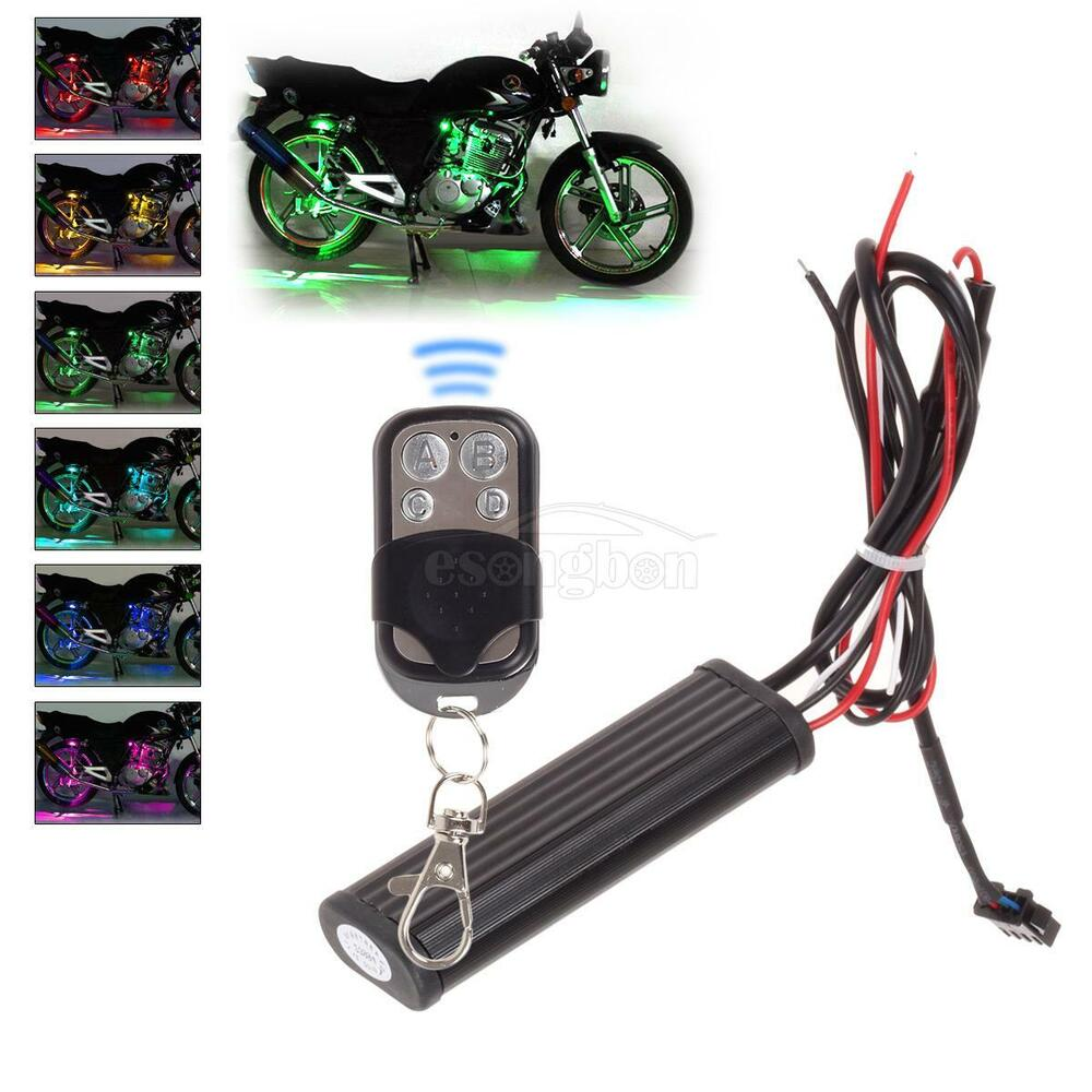 Light Controller For Motorcycles: 12V Motorcycle Led Light Remote Control=Strobe + Color