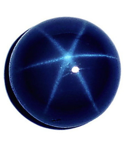 Natural Blue Star Sapphire Round Cabochon 6 Rays Loose Stones (5mm - 12mm)