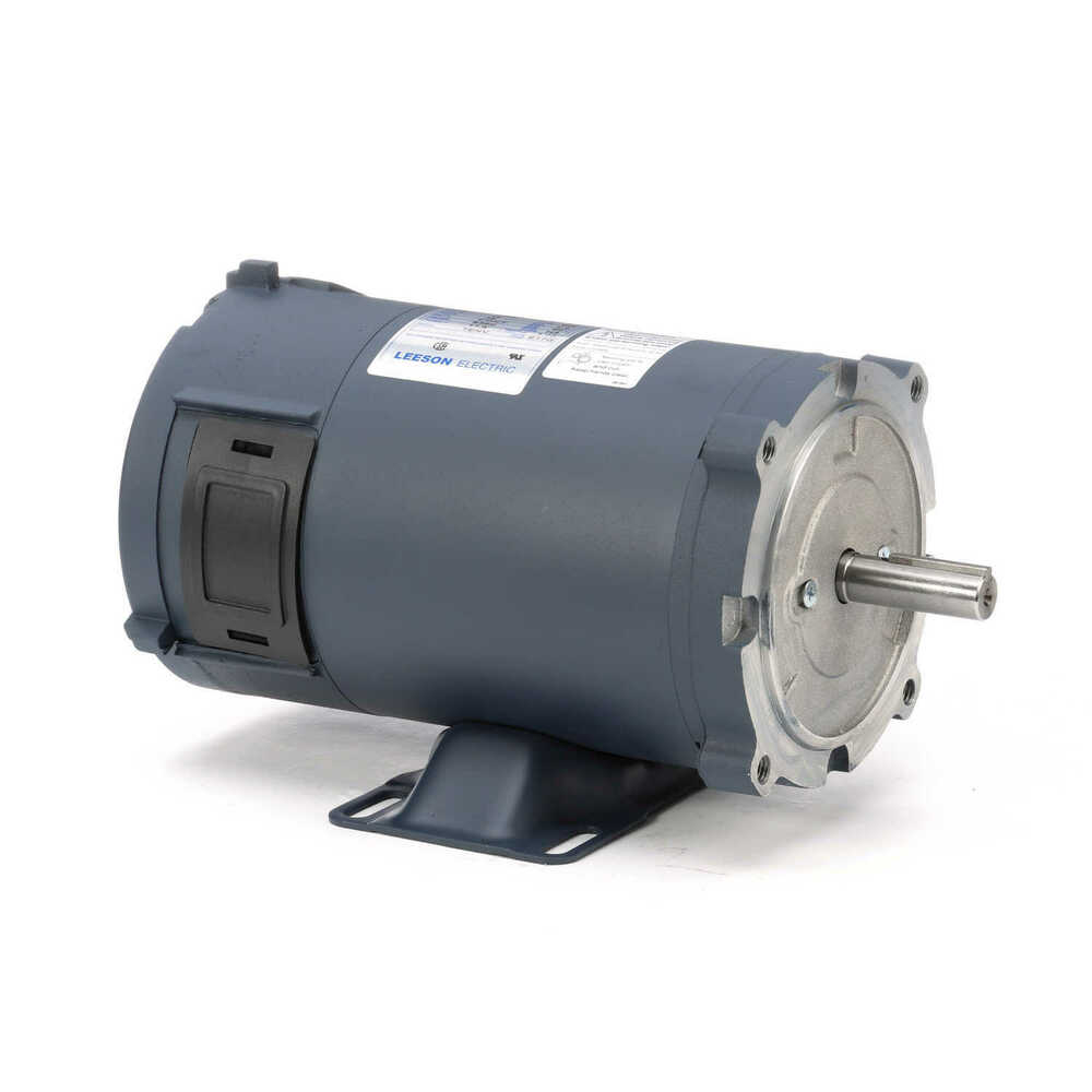 Leeson Electric Motor 108047 00 1  2 Hp 1800 Rpm 12 Volt