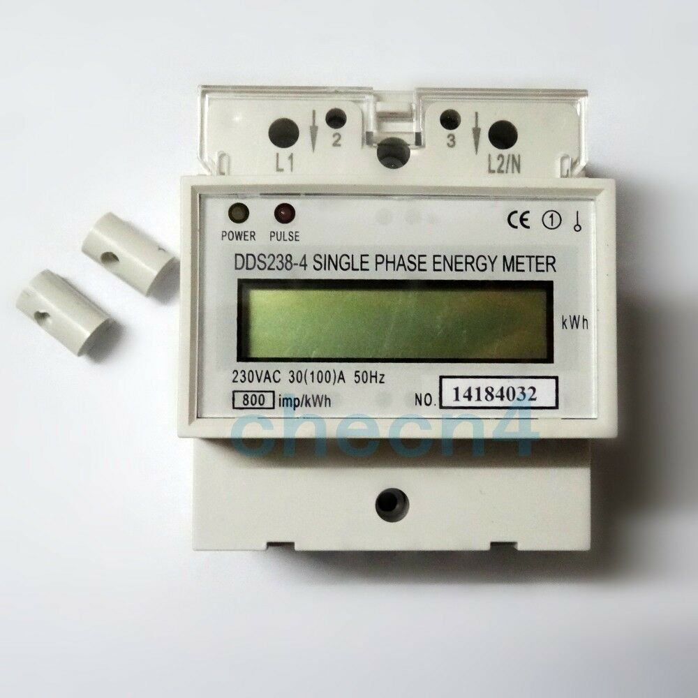 Single Phase Meter Mechanical : Ac v kwh watt hour meter single phase lcd counter