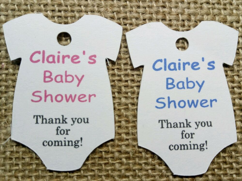 Personalised Baby Gift Tags Uk : Personalised baby shower christening birthday thank you