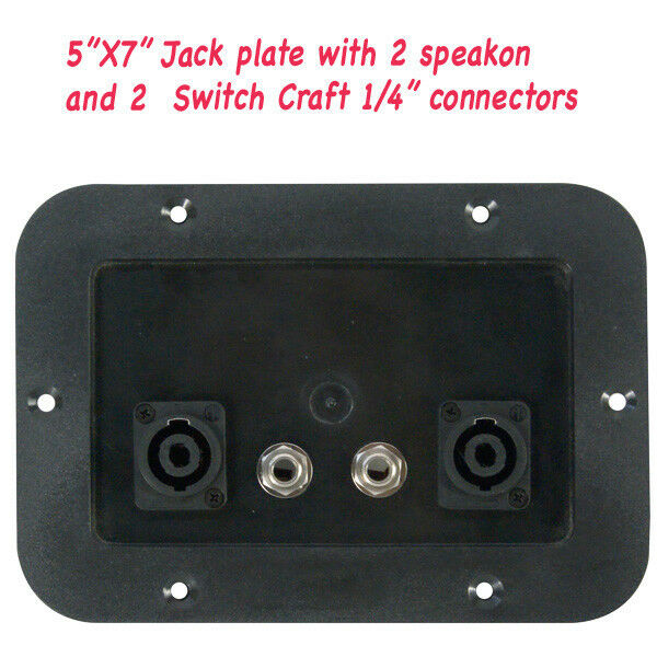 Jack Plate With 2 Speakon And 2 1 4 Quot Connectors 5x7