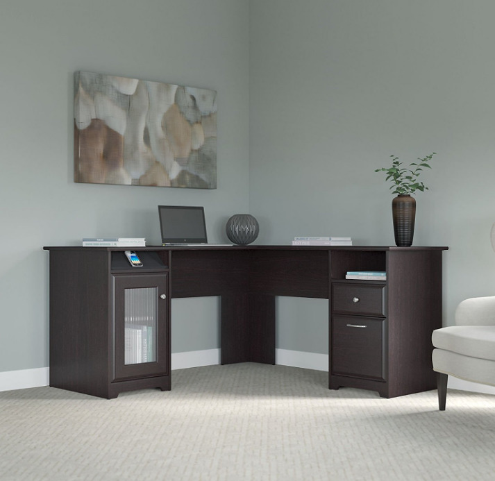 Executive L Shaped Office Desk Furniture Corner Computer Shape Workstation Ho