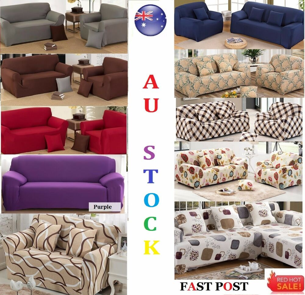 stretch fit sofa cover lounge couch easy removable