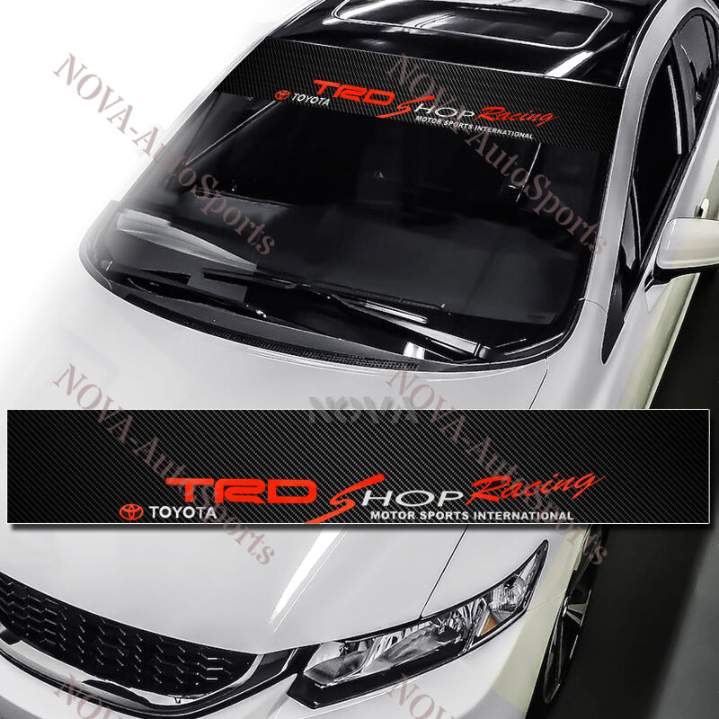 TRD Racing Car Windshield Carbon Fiber Vinyl Banner Decal Sticker - Car windshield decals