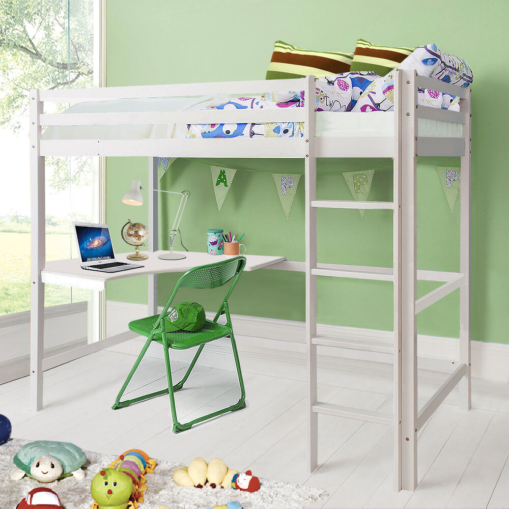 goplus hochbett kinderbett spielbett leiter jugendbett massiv etagenbett kiefer ebay. Black Bedroom Furniture Sets. Home Design Ideas