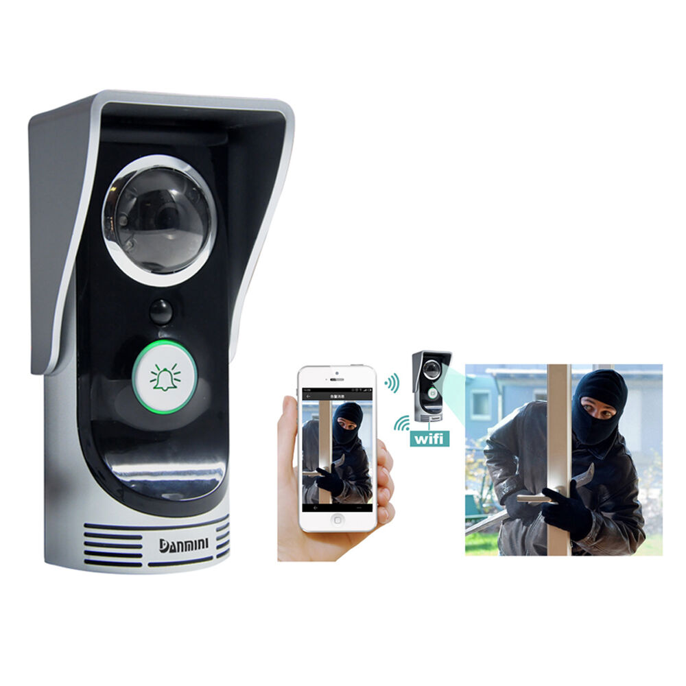 Wireless wifi remote video camera door phone doorbell for Door video camera