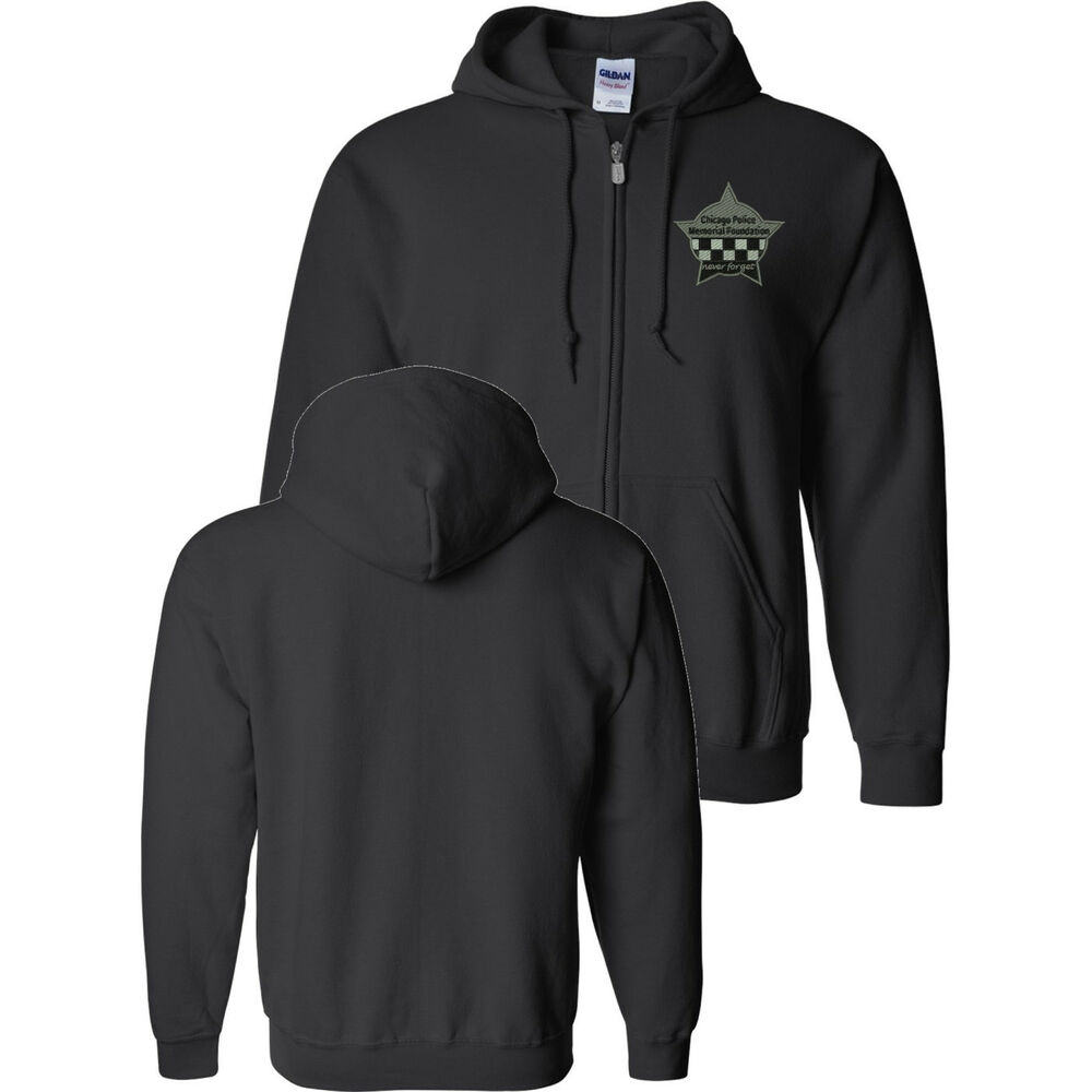 Cpd memorial full zip sweat shirt with embroidered star ebay for How to not sweat through shirts