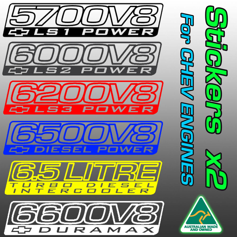 Details about chev holden stickers for ls1 ls2 ls3 6 5 v8 diesel duramax turbo supercharger