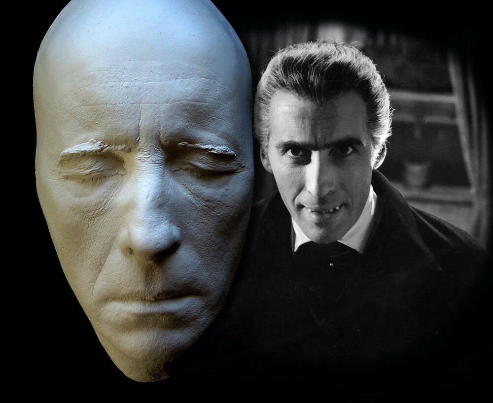 Christopher Lee Life Mask Cast Dracula Hammer Horror Star ...