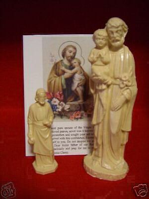 st joseph statues two sell your home kit w medal ebay. Black Bedroom Furniture Sets. Home Design Ideas