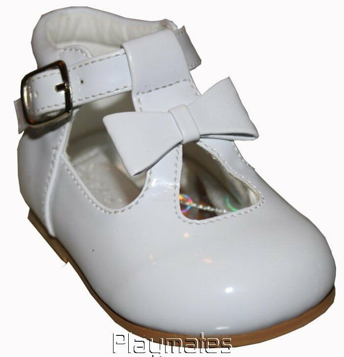 Infant Girls White Patent Walking Shoes sizes 2-3-4-5-6 | eBay