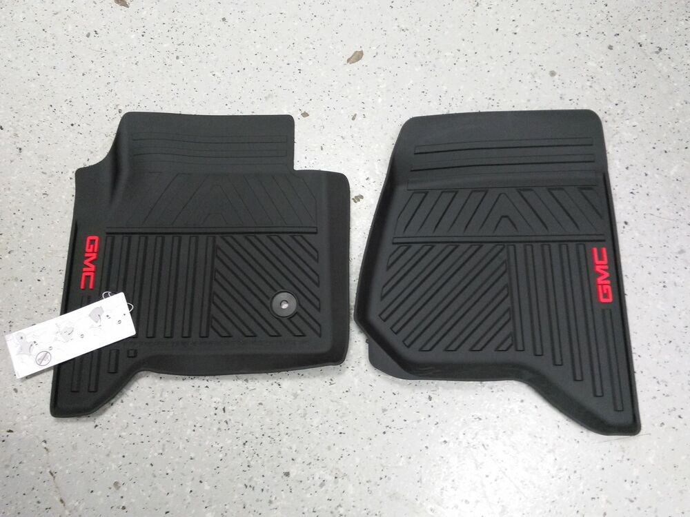 New Oem 2014 2015 Gmc Sierra Front All Weather Mat Package