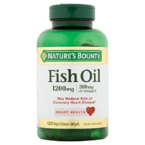 Nature 39 s bounty fish oil omega 3 1200 mg 120 softgels ebay for What is omega 3 fish oil good for
