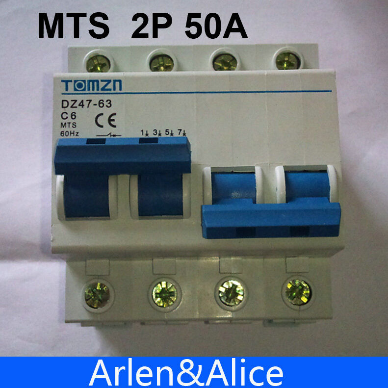 2p 50a Mts Dual Power Manual Transfer Switch Circuit