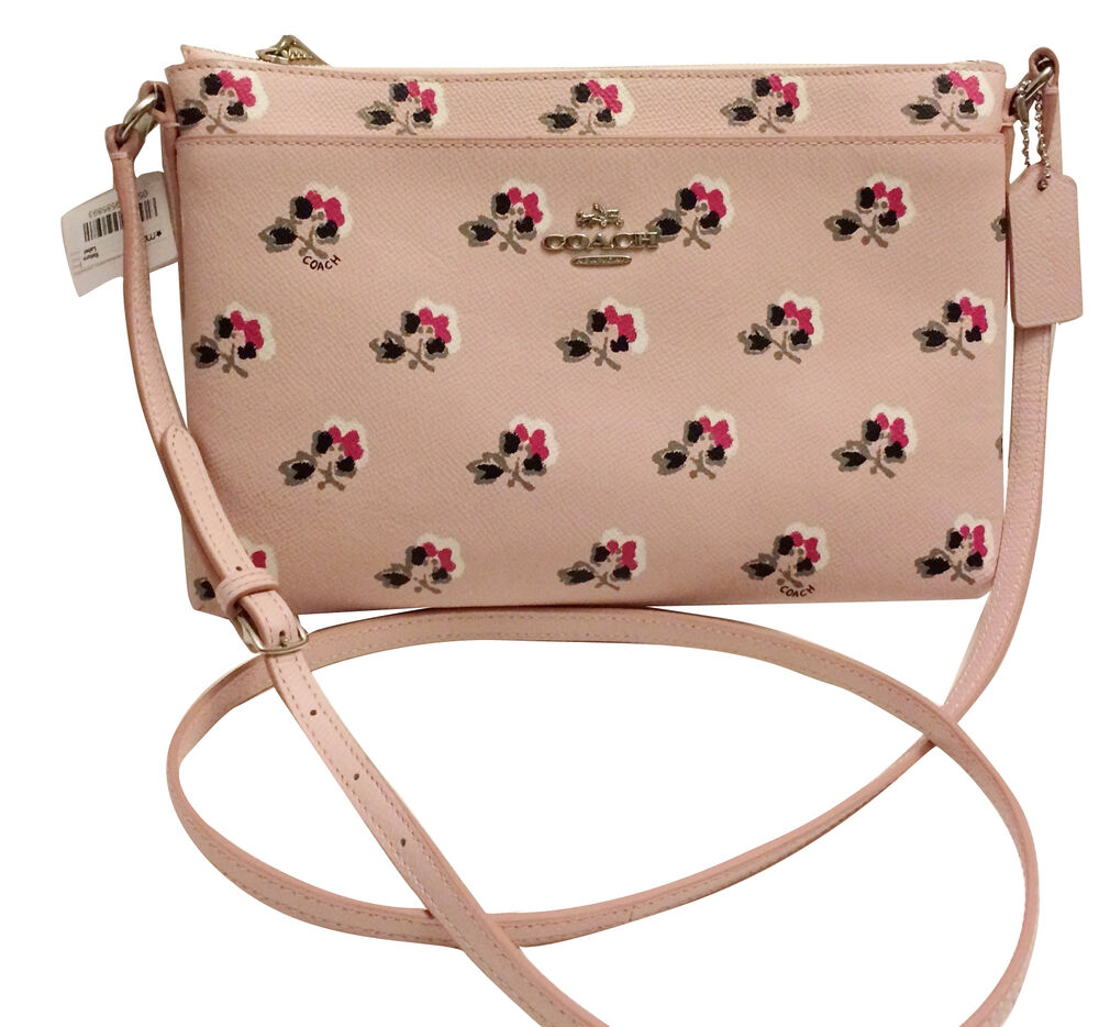 NWT Coach 53358 Journal Crossbody In Floral Printed Leather Multi | EBay
