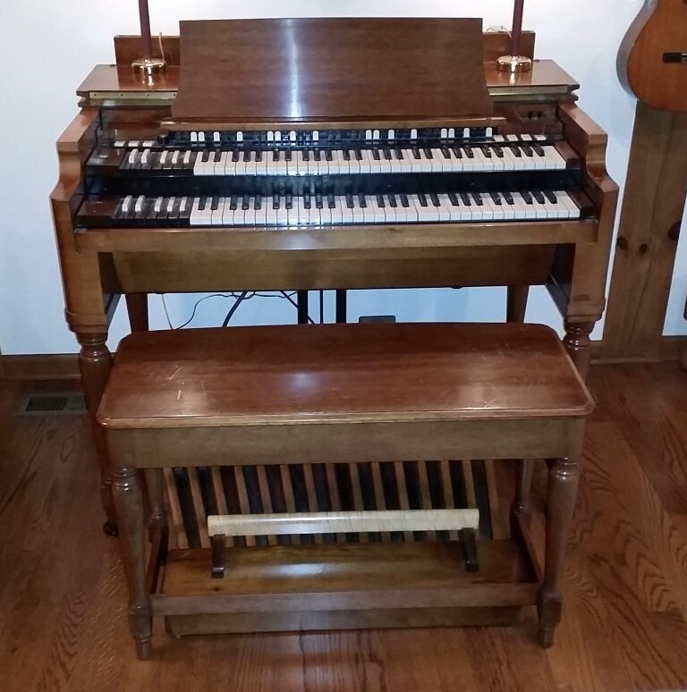 Classic 1958 Hammond B3 Organ Cherry Wood With Pedals Bench Hammond Speaker Ebay