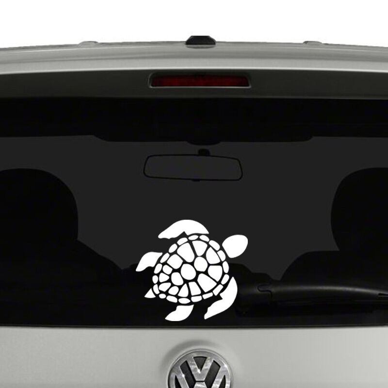 Sea turtle vinyl decal sticker car window ebay Getting stickers off glass