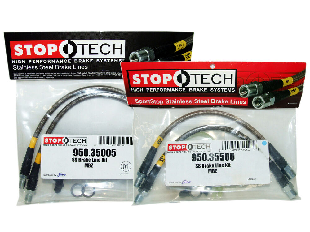 Braided Brake Line Colorado : Stoptech stainless steel braided brake lines front rear