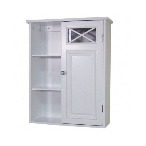 white medicine cabinet surface wall mount wood chest