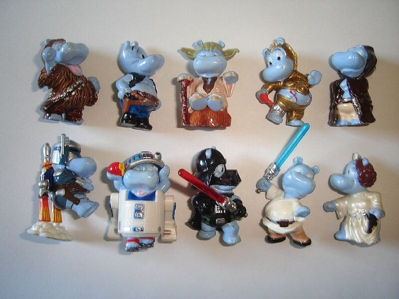 star wars happy hippos 2002 kinder surprise figures set figurines collectibles ebay. Black Bedroom Furniture Sets. Home Design Ideas