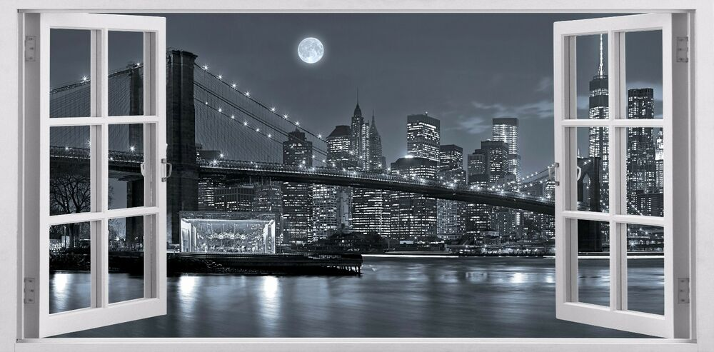 New York City Panoramic Decals New For Home Decor Wall Stickers Removable Vinyl Ebay
