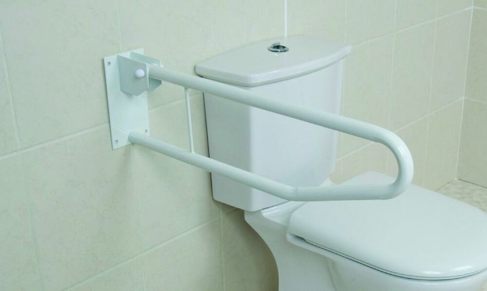 New Toilet Safety Rail Support Grab Bar Drop Down Disabled ...
