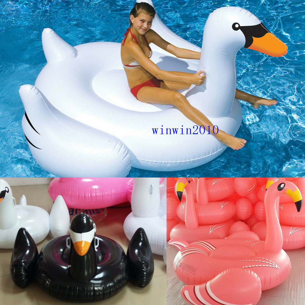 Summer Swimming Pool Kids Giant Rideable Swan Inflatable