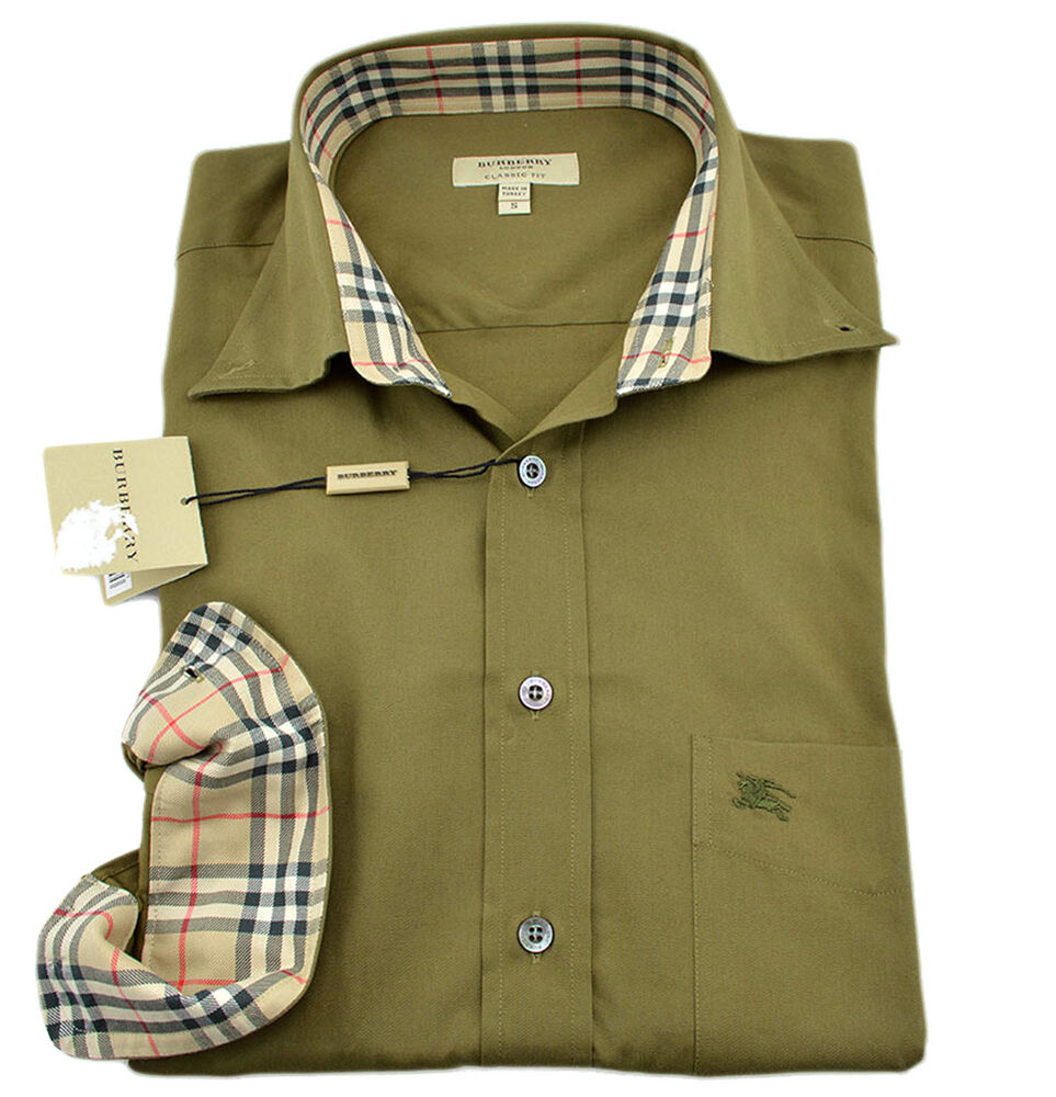 275 Burberry London Military Green Casual Dress Mens