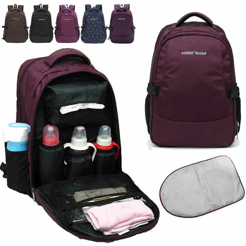 water resistant baby diaper bag backpack changing bag mother bag changing pad ebay. Black Bedroom Furniture Sets. Home Design Ideas