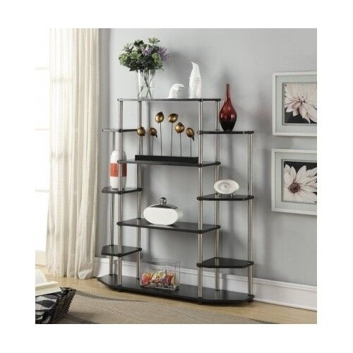 Wall Unit Bookcase Etagere Bookshelf Display Shelves Stand Living Room Furniture Ebay