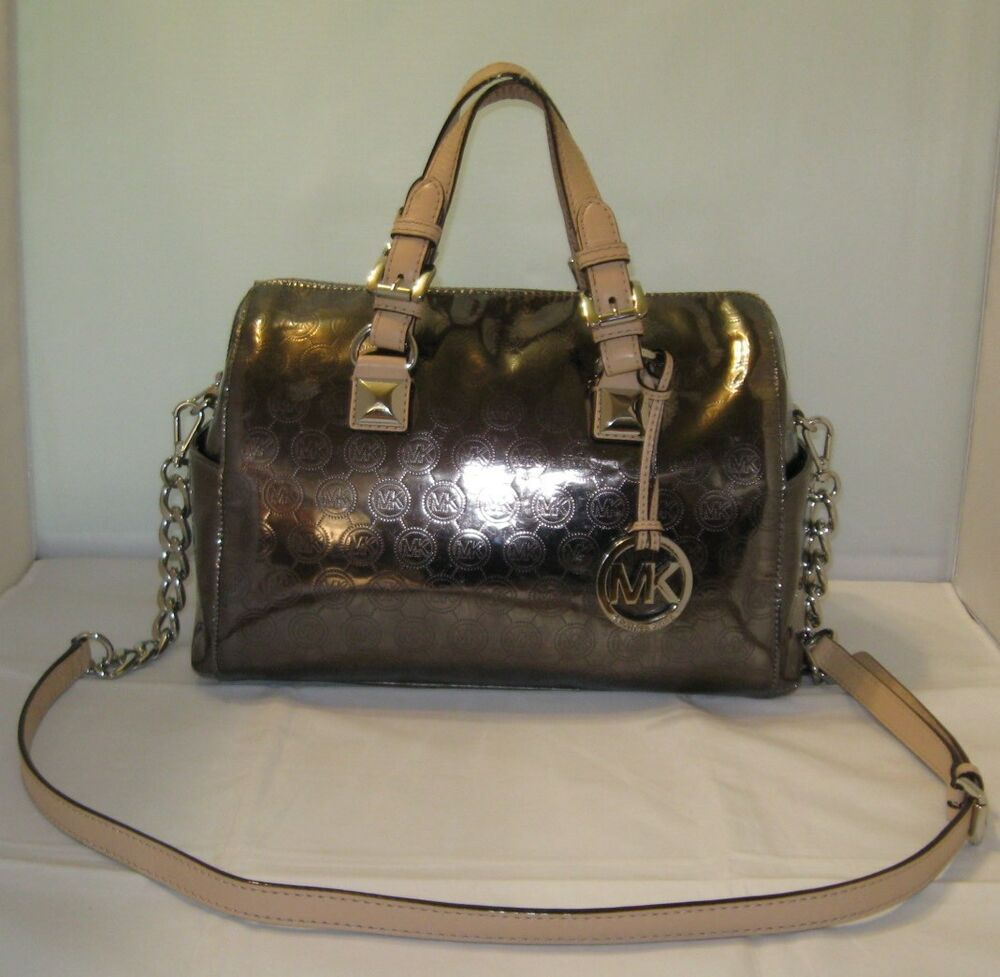 Michael Kors Handbag Grayson Mirror Metallic Medium