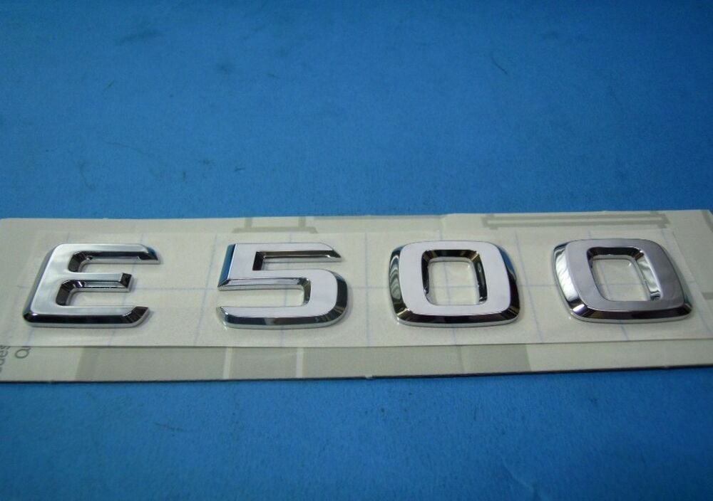 Mercedes benz e class genuine emblem e500 trunk insignia for Mercedes benz insignia