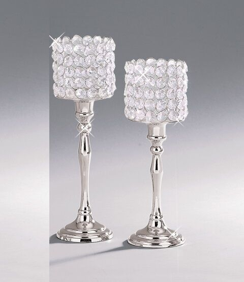 Crystal votive tealight candle holders wedding