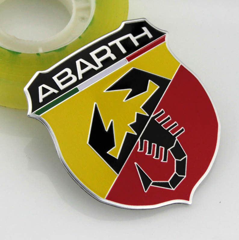 3d auto metall schriftzug aufkleber emblem plakette f r abarth skorpion shield ebay. Black Bedroom Furniture Sets. Home Design Ideas