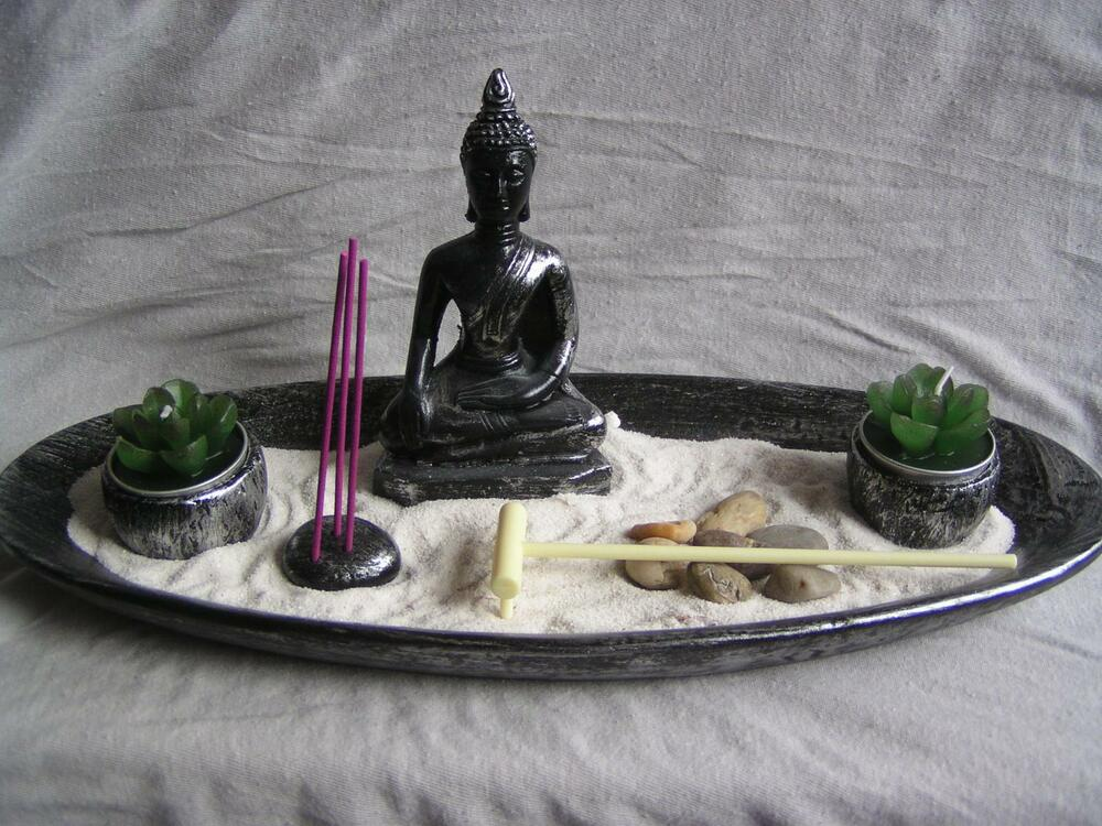 deko set zen garten buddha feng shui dekoration ebay. Black Bedroom Furniture Sets. Home Design Ideas