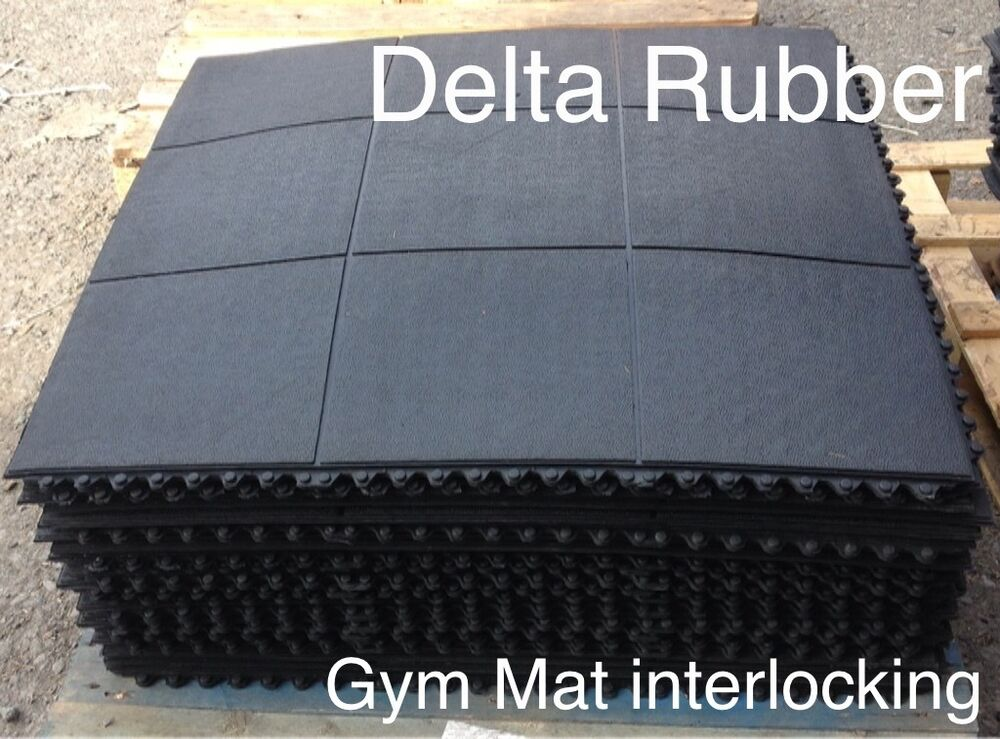 Interlocking rubber floor mats gym exercise mat x