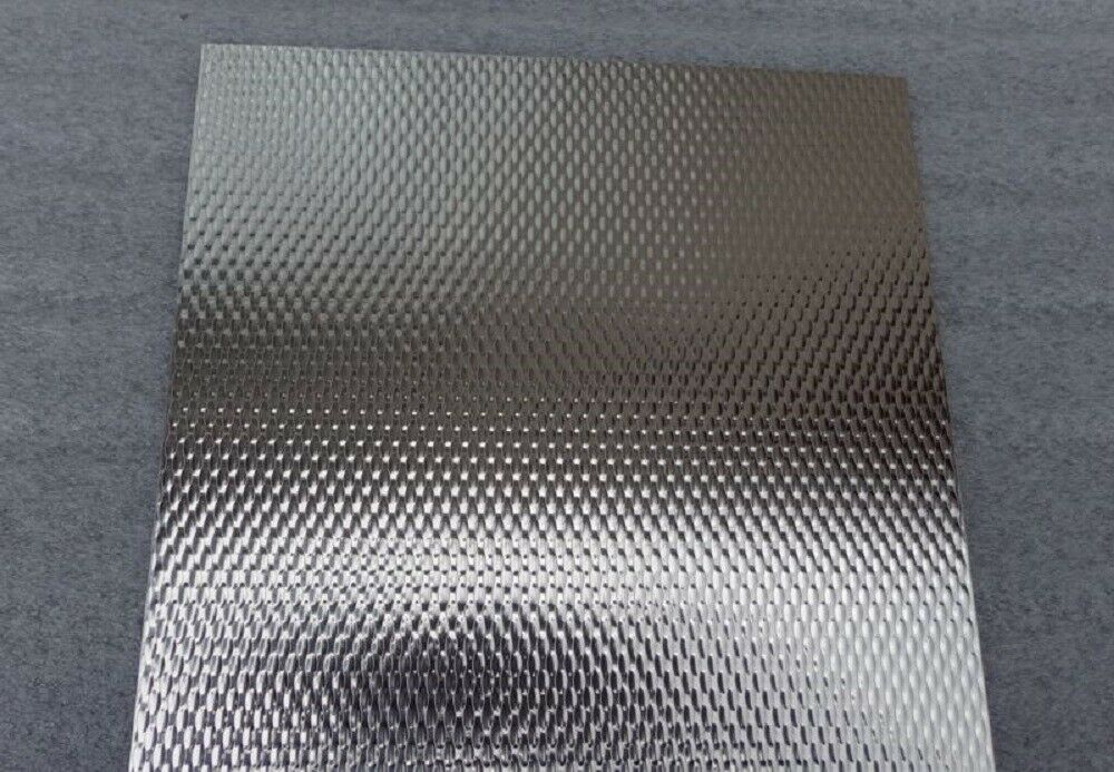 5wl Pattern Embossed Stainless Steel Sample Size 100mm X