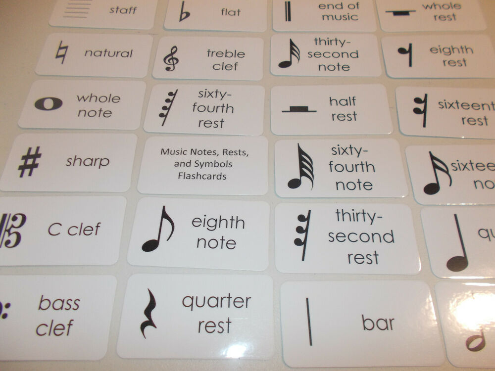 Lucrative image with regard to musical note flashcards printable
